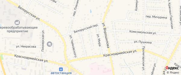 Улица Дзержинского на карте Суража с номерами домов