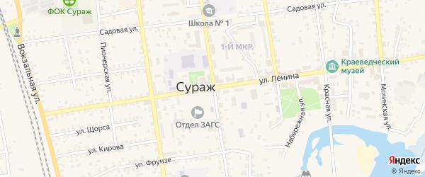 Петровская улица на карте Суража с номерами домов