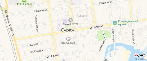 Территория ГО район АЗС на карте Суража с номерами домов