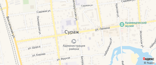 Территория ГО 54-й квартал на карте Суража с номерами домов
