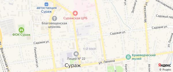 Садовая улица на карте Суража с номерами домов