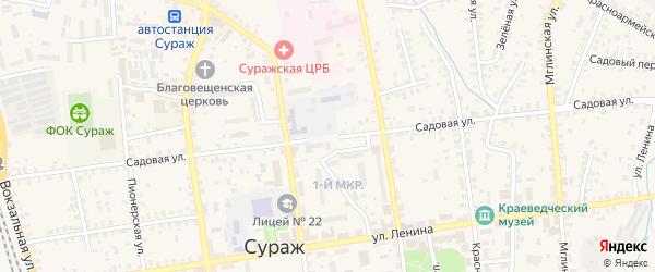Садовая улица на карте деревни Александровки с номерами домов