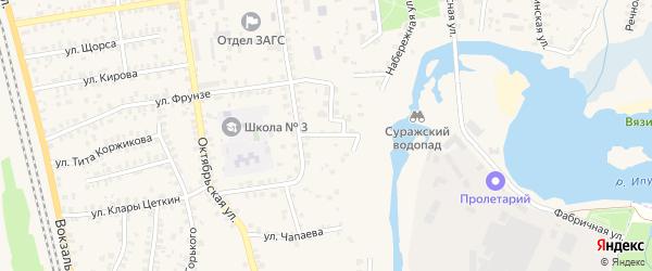Улица Городок на карте Суража с номерами домов