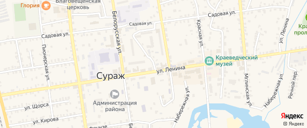 Безымянный переулок на карте Суража с номерами домов