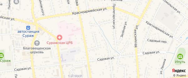 Переулок Ворошилова на карте Суража с номерами домов