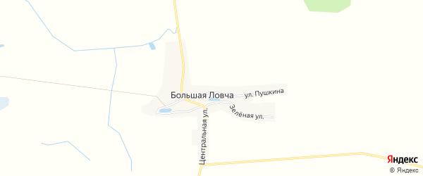 Карта деревни Большей Ловча в Брянской области с улицами и номерами домов