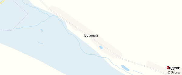 Карта Бурного поселка в Брянской области с улицами и номерами домов