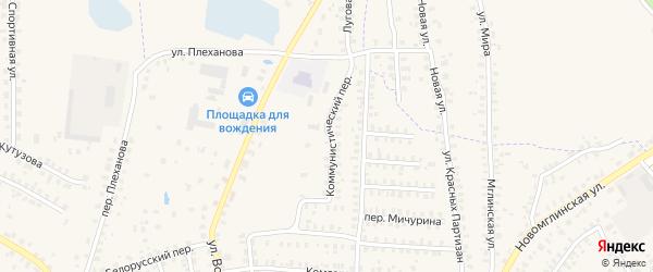 Коммунистический переулок на карте Суража с номерами домов