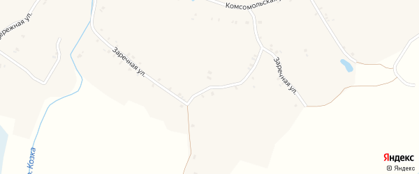 Заречная улица на карте села Кулаги с номерами домов