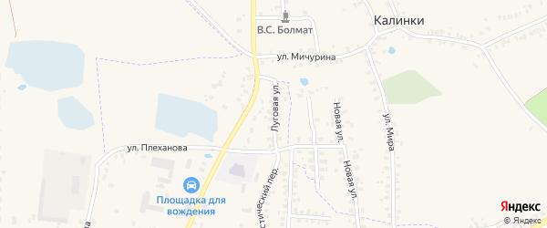 Луговая улица на карте Суража с номерами домов