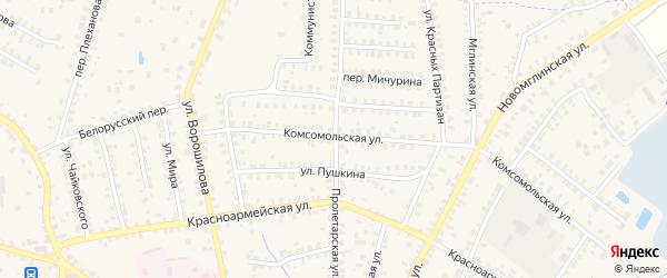 Пролетарская улица на карте Суража с номерами домов