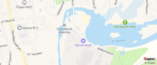 Фабричная улица на карте Суража с номерами домов