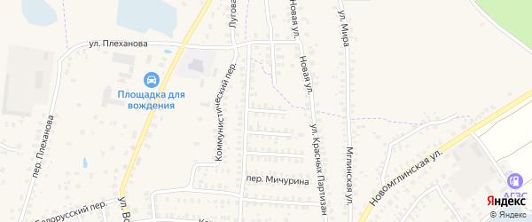 Северный переулок на карте Суража с номерами домов