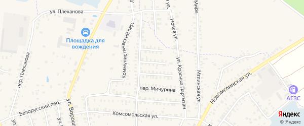 Строительный переулок на карте Суража с номерами домов