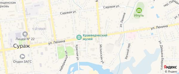 Улица Ленина на карте Суража с номерами домов
