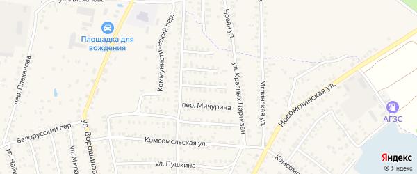 Молодежный переулок на карте Суража с номерами домов