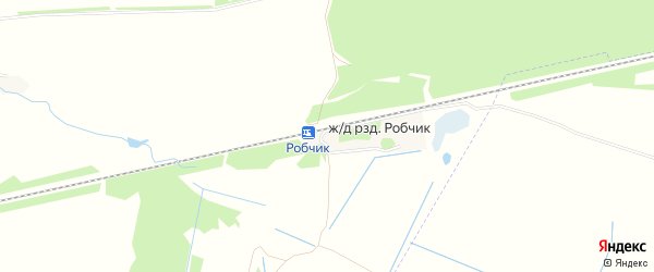 Карта железнодорожного разъезда Робчика в Брянской области с улицами и номерами домов