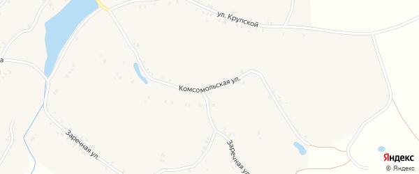 Комсомольская улица на карте села Кулаги с номерами домов