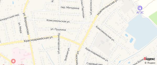 Комсомольский переулок на карте Суража с номерами домов