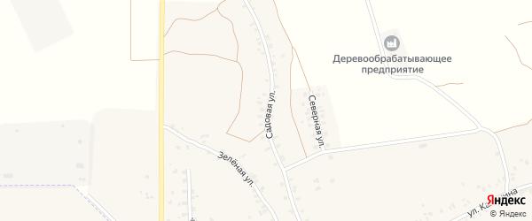Садовая улица на карте деревни Калинки с номерами домов