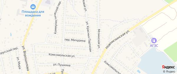 Улица Красных Партизан на карте Суража с номерами домов