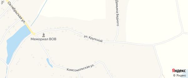 Улица Крупской на карте села Кулаги с номерами домов