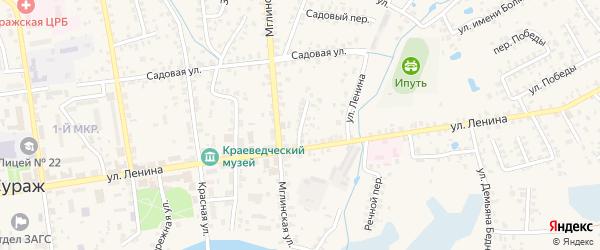 Переулок Ленина на карте Суража с номерами домов