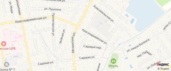 Улица Кочеринова на карте Суража с номерами домов