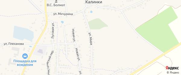 Улица Мира на карте деревни Калинки с номерами домов