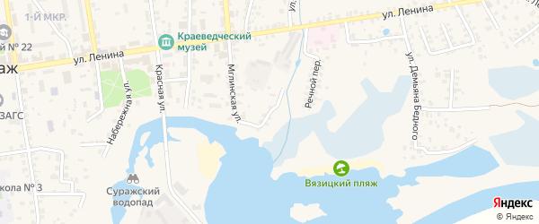 Набережная улица на карте Суража с номерами домов