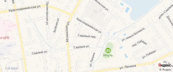 Садовый переулок на карте Суража с номерами домов