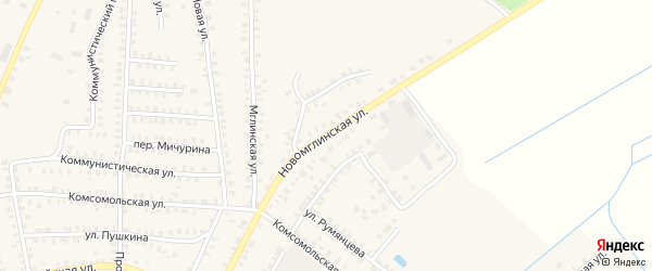 Ново-Мглинской переулок на карте Суража с номерами домов