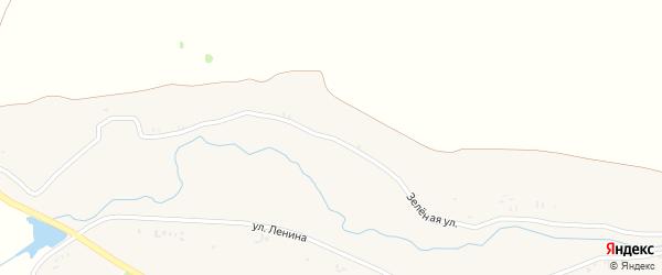 Зеленая улица на карте поселка Зеленой Рощи с номерами домов