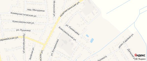 Улица Румянцева на карте Суража с номерами домов