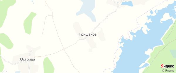 Карта поселка Гришанова в Брянской области с улицами и номерами домов