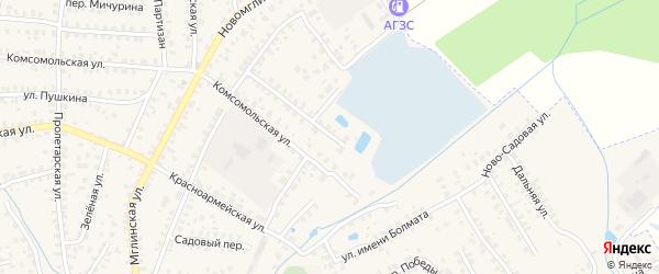 Переулок Румянцева на карте Суража с номерами домов