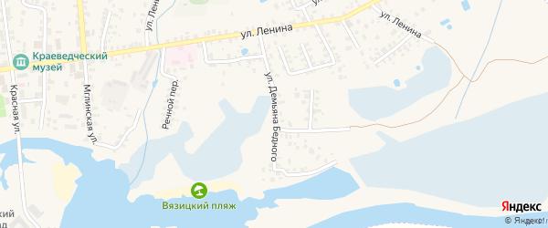 Улица Демьяна Бедного на карте Суража с номерами домов