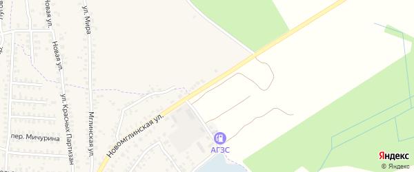 Ново-Мглинская улица на карте деревни Калинки с номерами домов