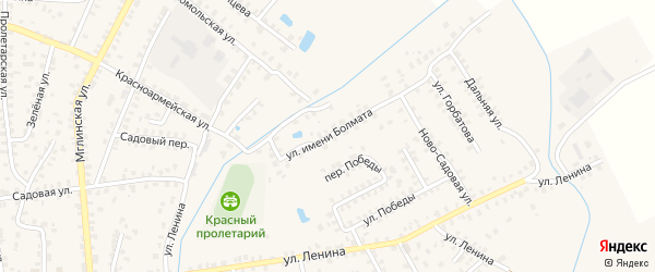 Улица Имени Болмата на карте Суража с номерами домов