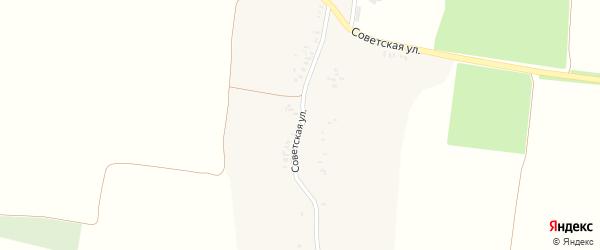 Советская улица на карте села Бутовска с номерами домов
