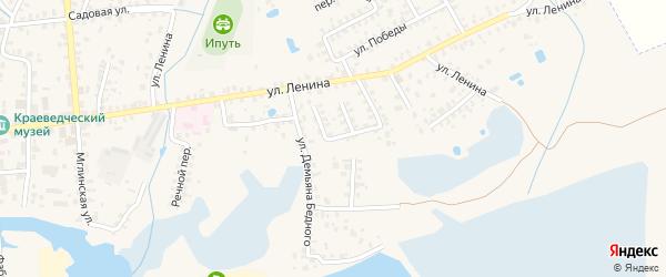 Переулок Калинина на карте Суража с номерами домов