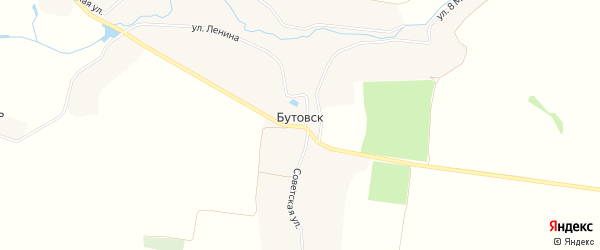 Карта села Бутовска в Брянской области с улицами и номерами домов