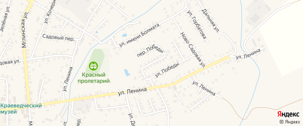 Переулок Победы на карте Суража с номерами домов