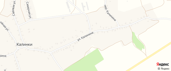 Улица Калинина на карте деревни Калинки с номерами домов