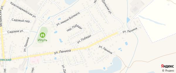 Улица Победы на карте Суража с номерами домов