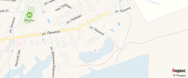 Восточный переулок на карте Суража с номерами домов