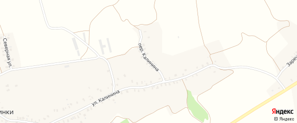Переулок Калинина на карте деревни Калинки с номерами домов