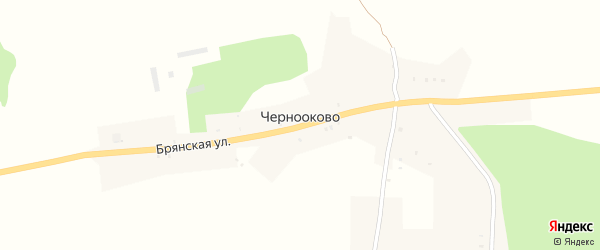 Улица Гагарина на карте села Чернооково с номерами домов