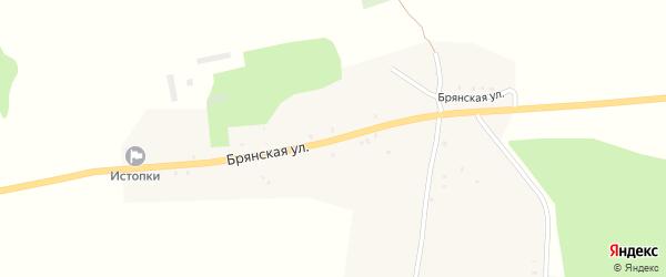 Улица Комарова на карте села Чернооково с номерами домов