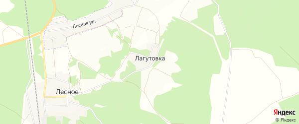 Карта деревни Лагутовки в Брянской области с улицами и номерами домов